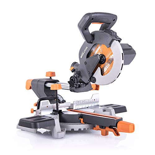 """Evolution Power Tools R185SMS 7-1/4"""" Multi-Material Compound Sliding Miter Saw"""