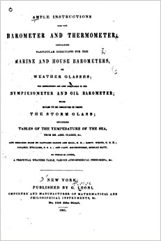 Book Ample instructions for the barometer and thermometer