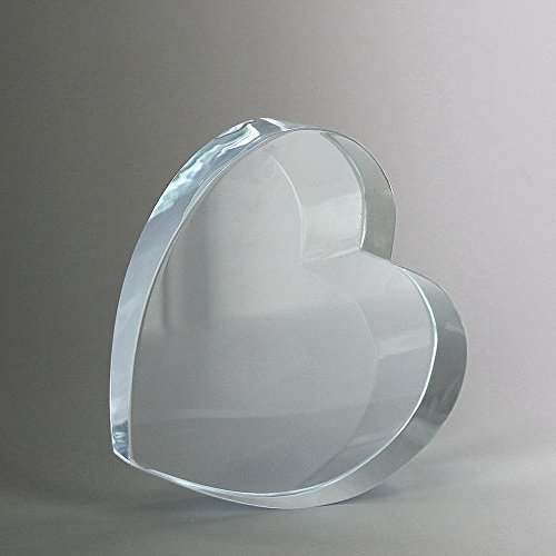 Awards and Gifts R Us Customizable Optical Crystal Heart Award, Includes Personalization