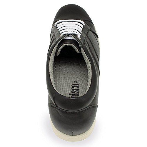 Fabriquées Jusqu'À Homme Taille en Semelle Modèle 7cm Mantova Pour la Réhaussantes avec Chaussures Masaltos Noir Peau Augmentant 4tzqPP