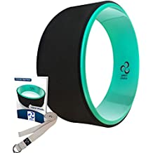 Pete's Choice Ultimate Dharma Yoga Wheel Prop with BONUS eBook & FREE Extra Yoga Strap By Superior-Quality PC Material, Comfortable & Durable Yoga Balance Accessory, Increase Precision & Flexibility