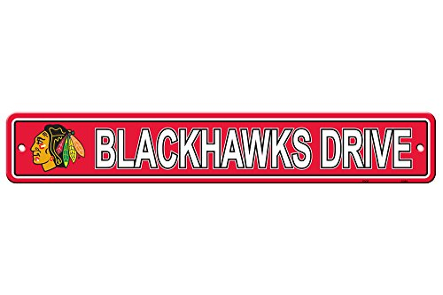 NHL Chicago Blackhawks Street Sign, One Size, - Sign Star Street