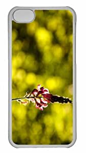 Customized iphone 5C PC Transparent Case - Flower 58 Personalized Cover