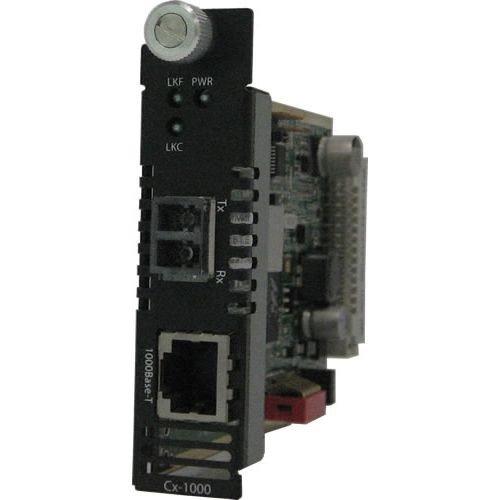Perle 05052200 CM-100-M2ST2 Fast Ethernet Media Converter - 1 x Network (RJ-45) - 1 x ST Ports - 100Base-TX, 100Base-FX - Internal