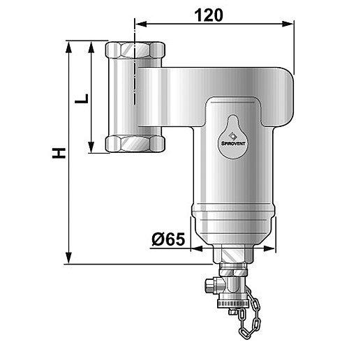 Spirotrap Schlammabscheider 22mm Klemmring AE022