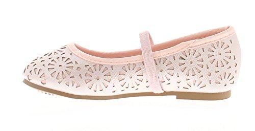 Princess Stardust Jüngeres Ballerina Mädchen mit Out Muster Ober Elastische Riemen für Stability - Pink - UK Größen 4-12