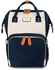 Baby Wickelrucksack Macaron Wickeltasche mit wasserdicht Wickelunterlage Große Kapazität multifunktional Babytasche Reiserucksack für Unterwegs