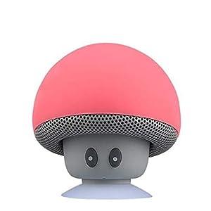 Haut-Parleur Portable Bluetooth étanche Voyage en Plein airBande dessinée Petit Champignon Bluetooth Haut-Parleur étanche Smart Petit Haut-Parleur Rouge 5.5cmx5.5cm 8