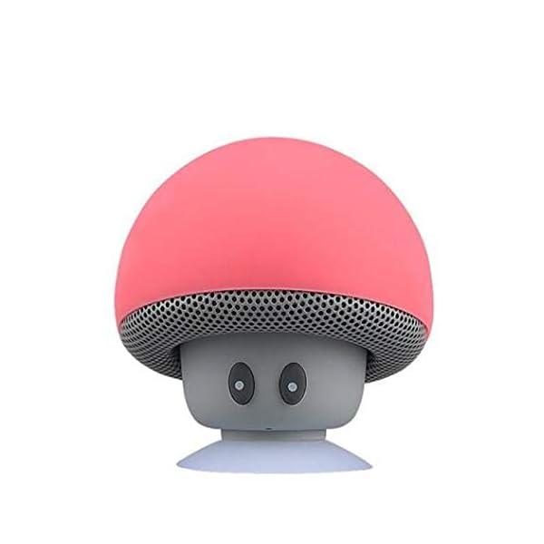 Haut-Parleur Portable Bluetooth étanche Voyage en Plein airBande dessinée Petit Champignon Bluetooth Haut-Parleur étanche Smart Petit Haut-Parleur Rouge 5.5cmx5.5cm 1