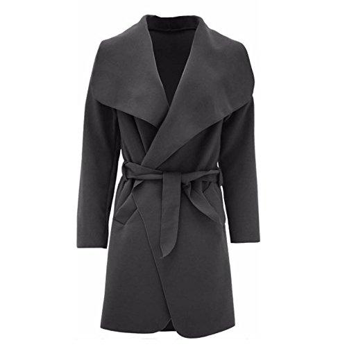 Fashion Angel - Abrigo - para mujer gris oscuro
