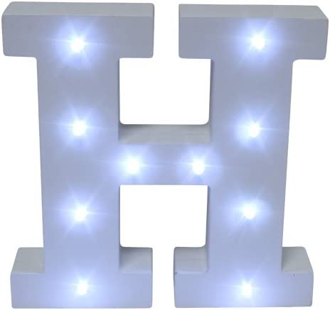 Led decorative letters home love 3d white wood decoration battery registration