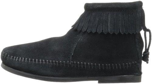 black Stivaletti Back Bambini Minnetonka Unisex Boot Nero Zipper a6Sxqw8