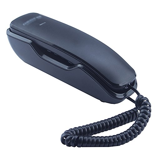 SAN_X Retro Phone Telephone/Wall-Mounted Fixed Wired Telephone/Office Business Household Mini-Small Extension/Size (Color : Black) from SAN_X
