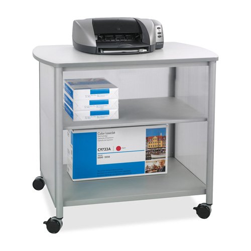 Safco Machine Stand, w/4 Casters, 34-3/4''x25-1/2''x31'', Gray, Sold as 1 Each by Safco