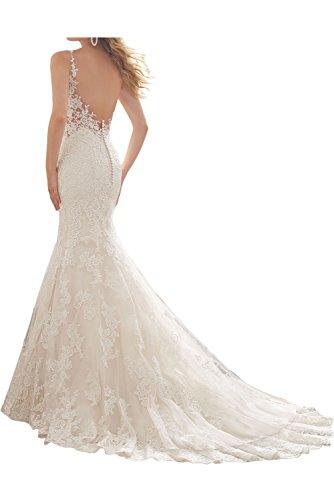 Beliebt Himmelblau Festkleid Mermaid Spitze Hochzeitskleid Abendkleider Traeger Damen Ivydressing 8Fw0q5AF
