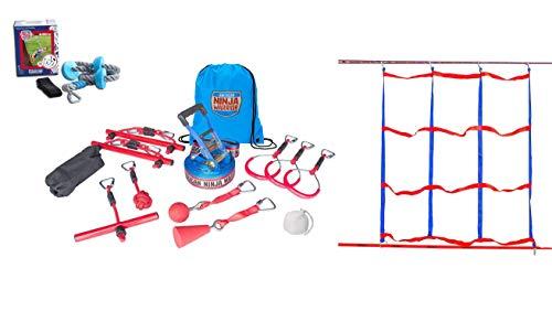 American Ninja Warrior Deluxe Ninjaline Kit with 11 Obstacles 40'