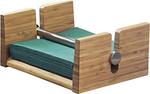 Esmeyer 199-625 Serviettenhalter TOM  aus Bambus, Maße: ca. 20,5 x 0,7 x 9,5 cm im Geschenkkarton