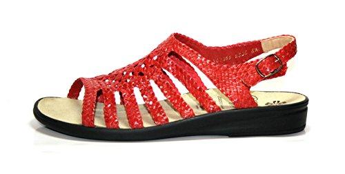 Ganter Sonnica - Sandalias de vestir para mujer Rojo