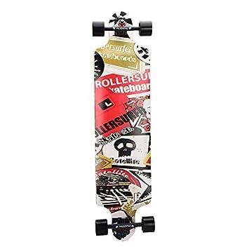 PUENTE Skateboard Complete Pro Drop Through Longboard 41 Inch