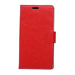 Funda con tapa de color rojo para LG Magna con tapa, apertura lateral, función atril