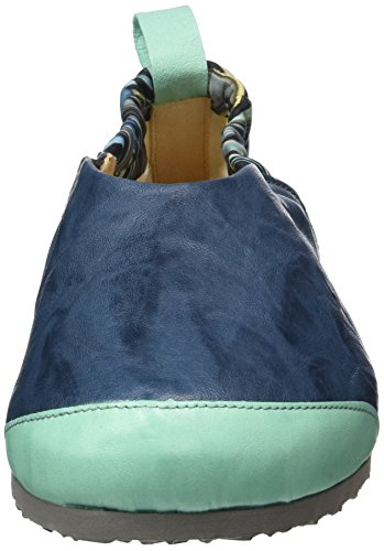 Think Dufde, Zuecos para Mujer Azul (saphir/kombi 90)