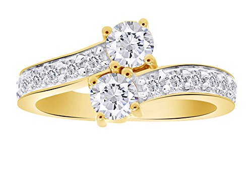 Round Shape White Natural Diamond Solitaire Ring In 14k Solid Yellow Gold (0.93 cttw) Ring Size-7 14k Yg Round Cut Diamond