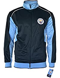 Manchester City Track Jacket Youth Boys Zip Front Soccer Football Official  Merchandise b96a4a6c5