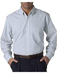 UltraClub Men's Wrinkle-Free Long Sleeve Oxford Shirt