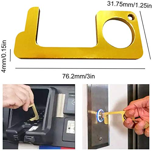 Llave de la manija del abridor de puerta Llavero antibacteriano port/átil para la vida diaria 2pcs Llavero protector port/átil
