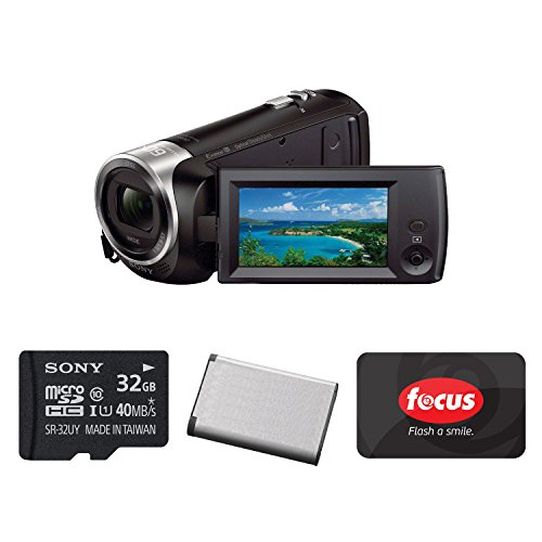Sony HD Video Recording HDRCX405 HDR-CX405/B Handycam Camcorder (Black) with Sony 32GB Memory Card, Replacement Battery, and $25 Focus Gift Card - Sony K4 Video Camera
