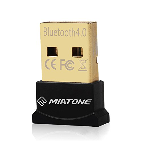 MIATONE Wireless Bluetooth CSR 4.0 USB Adapter Dongle for PC with Windows 10 8 7 Vista XP 32/64 Raspberry Pi Linux Black (Bluetooth Dongle For Pc)
