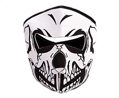 Outdoor Sports Mask Skull Cycling Bike Bicycle Bicycle Sport Riding Face Care Face Mask Scarf Scarfs (white) -
