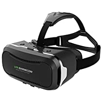 VR SHINECON 2nd VersionVirtual Reality Glasses Headset for 3D Videos Movies Games Compatible with Most 3.5