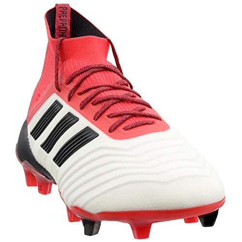 adidas Mens Predator 18.1 Firm Ground Soccer Casual Cleats, Red;White, 9.5