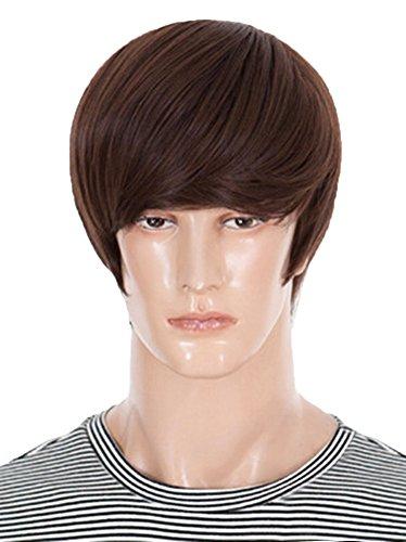 Gracefulvara mode hommes Cosplay droites courtes beau parti cheveux perruque Perruques complet + perruque Cap