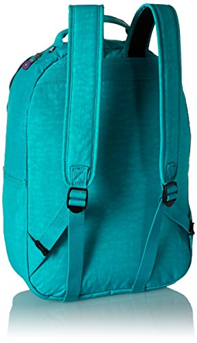 Kipling Seoul Backpack, Cool Turquoise Contrast Zip, One Size by Kipling (Image #3)