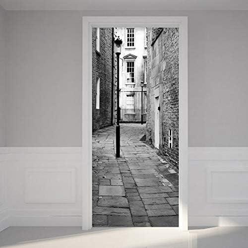 3D London Scenery Photo Porte Film Artiste R/ésidence D/écoration Salon Corridor Cuisine Toilette R/énovation D/étachable Imperm/éable Papier Peint de Porte Affiche Autocollant