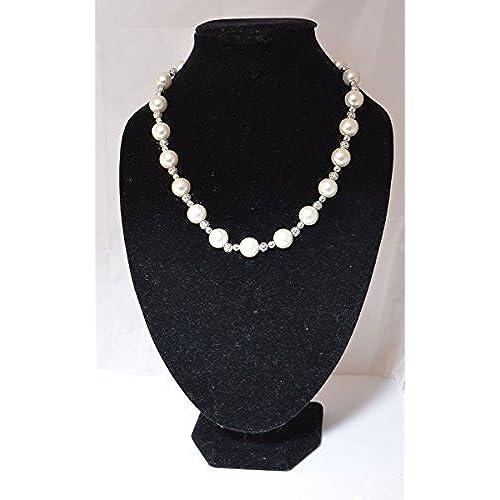 3bb013f13839 Elegante perla y collar de cuentas de diseño clásico (bolsa regalo de  Organza incluido)