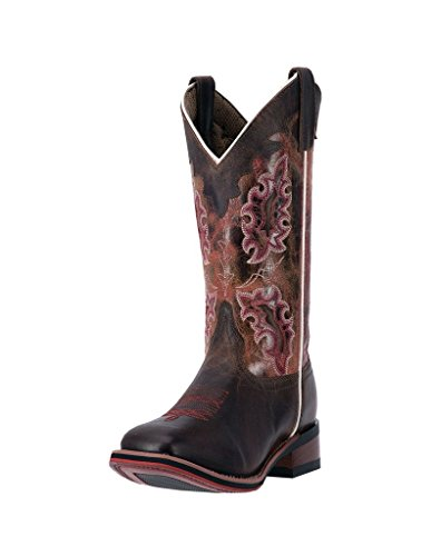 Laredo Women's 11'' Isla Square Toe Western Fashion Boots, Brown Leather, 7.5 M - 11' Brown Boot