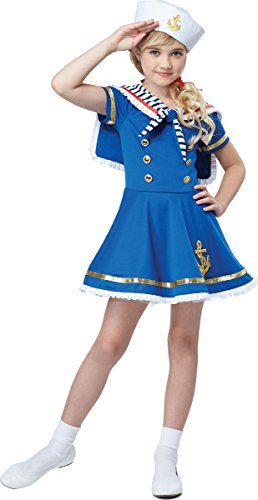 California Costumes Sunny Sailor Girl Costume, Blue/White, Small