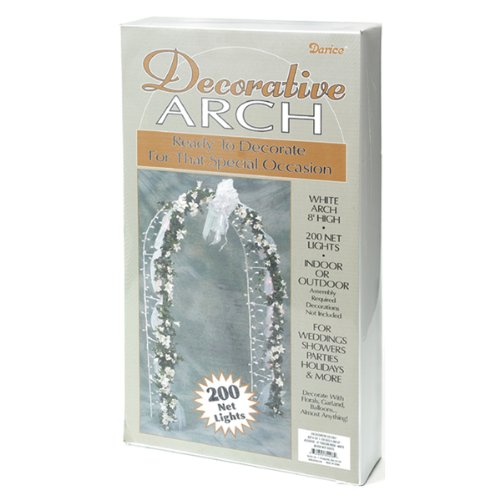 Darice 5209-06 Decorative 8-Foot-Tall White Wedding Arch with 200 Netting Lights, Health Care Stuffs