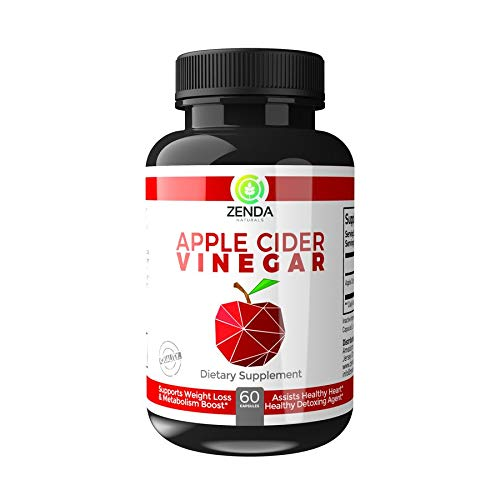 Apple Cider Vinegar Capsules - Natural Weight Loss, Detox, Digestion & Circulation Support - Extra Strength 1300 mg Cleanser - 60 Veg Capsules
