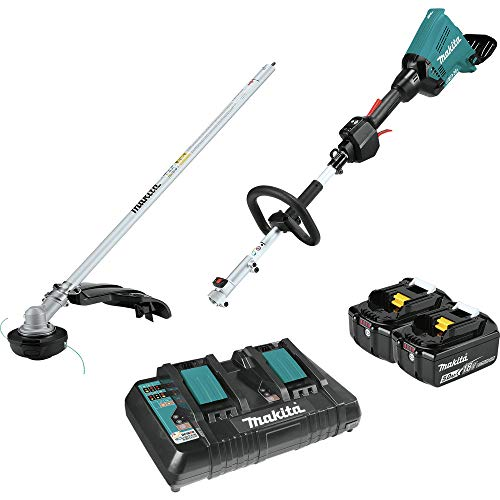 Makita XUX01M5PT-R 18V X2 (36V) LXT Lithium-Ion Brushless Cordless Couple Shaft Power Head Kit with 5.0Ah String Trimmer Attachment (Renewed)