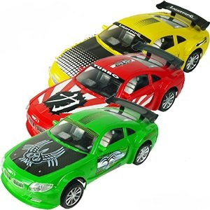 Green Racing Car (Friction Powered Speedway Racing Cars Toy For Kids!