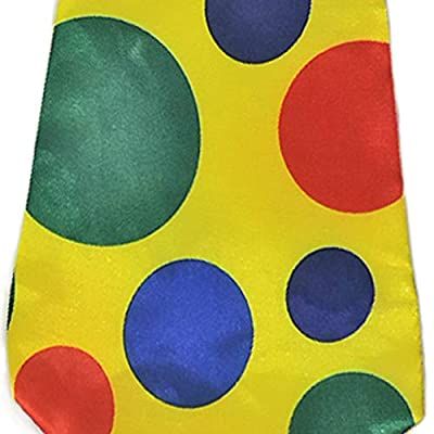 Giant Yellow Foam Clown Neck Tie & Honking Red Nose Set: Everything Else