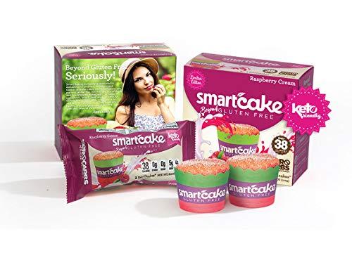 RASPBERRY CREAM SMARTCAKE (8 cakes): Sugar free, gluten free, low carb, keto snack cake