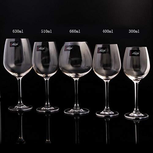 ALENAOO Autentico Estilo de Sonata de Cristal Copa de Vino Copas de Vino de Cristal oceano SGS, 510ML