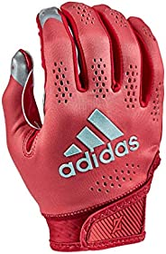 adidas Adizero 11 Turbo Football Receiver Glove, Red, Large