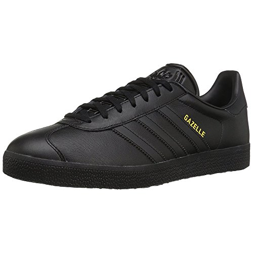 Adidas Originals Men's Gazelle Lace-up Sneaker,Black/Black/Gold Metallic,13 M US