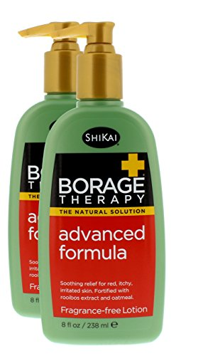 ShiKai - Borage Therapy Plant-Based Advanced Dry Skin Lotion, Soothing & Moisturizing Relief for Dry, Irritated & Itchy Skin, Non-Greasy, Sensitive Skin Friendly (Fragrance-Free, 8 Ounces, Pack of 2) ()